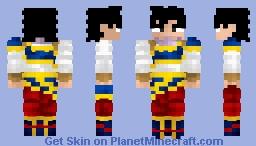 Son Goku Yardrat Clothes Dragon Ball Z Minecraft Skin