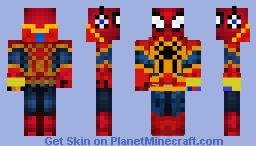 Spider-Man with Gaunlet Minecraft Skin