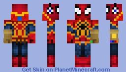 Spider Man with gaunlet (updated) Minecraft Skin