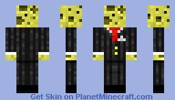 Sponge in Suit Minecraft Skin