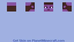 Purple Female Twi'lek Head Template Minecraft Skin
