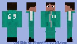 Squid Game Contestant Minecraft Skin