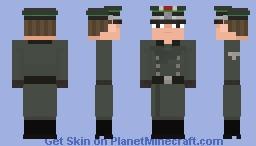 SS - Leutnant, 4. SS - Polizei - Panzergrenadier - Division ( 𝘔32 𝘰𝘷𝘦𝘳𝘤𝘰𝘢𝘵 ), France 1940 Minecraft Skin