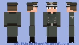SS - Sturmbannführer, SS - Totenkopverbände ( 𝘔32 𝘰𝘷𝘦𝘳𝘤𝘰𝘢𝘵 ), 1940 Minecraft Skin