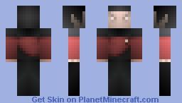 Starfleet Vulcan Captain, U.S.S SARATOGA Minecraft Skin