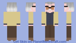 Stan Lee - 1 year today Minecraft Skin