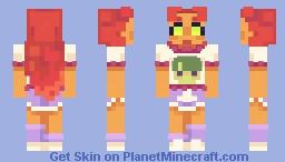 Starfire (80s shorts ver) Minecraft Skin