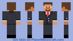 takım elbise giyen steve(Steve wearing a suit) Minecraft Skin