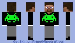 Steve in space invaders suit Minecraft Skin