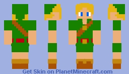 Child Link | The Legend of Zelda: Ocarina of Time Minecraft Skin