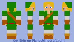Adult Link | The Legend of Zelda: Ocarina of Time Minecraft Skin