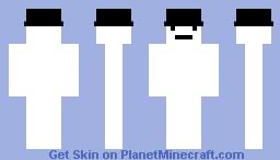 white fedora Minecraft Skin