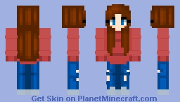 Cute Modern Girl Minecraft Skin