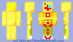 gold toad wii remote (with wii motion plus inside)alovania Minecraft Skin