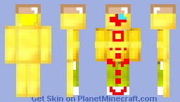 bald gold toad wii remote (with wii motion plus inside)alovania Minecraft Skin
