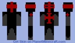 Black and Red Crusader Minecraft Skin