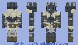 Knight of the Frosted Wastes +art Minecraft Skin