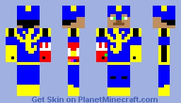 Brandon in blue falcon armor with infinity gauntlet. Minecraft Skin
