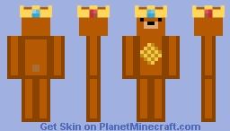 King WaffleBear! Minecraft Skin