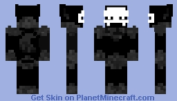 T.C (Or Puro, or a Black Furry with a White skull mask) Minecraft Skin