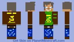 Farm Worker (John Deere) UPDATED Minecraft Skin