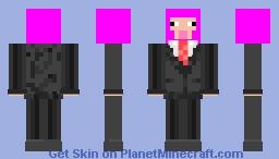 magenta sheep in suit Minecraft Skin