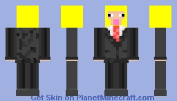 yellow sheep in suit Minecraft Skin