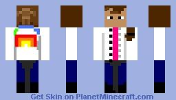 Raiinbow jacket girl Minecraft Skin