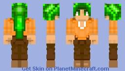 Green Hair Rafael #4 Minecraft Skin