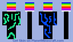 rainbow man Minecraft Skin