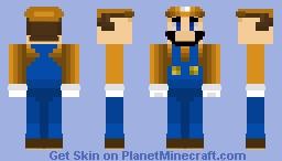 SSBU Skin Project - Fighter 09 - Luigi (Orange Alt) Minecraft Skin
