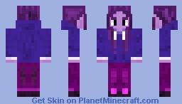 VERY Purple Hoodie Girl Minecraft Skin