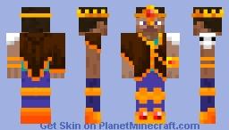 King of the World Steve Minecraft Skin