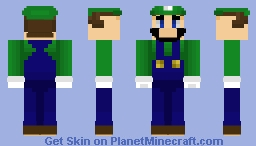 SSBU Skin Project - Fighter 09 - Luigi Minecraft Skin