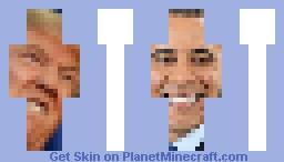 Donald Trump And Barack Obama Minecraft Skin