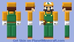 Luigi Super Mario Maker 2 Minecraft Skin