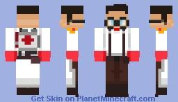 Team Fortress 2 (2007) - Medic (RED) Minecraft Skin