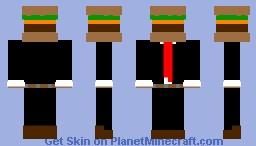 Hamburger in a suit Minecraft Skin