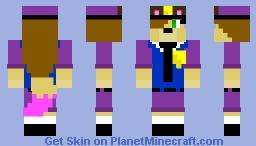 My Nightguard Oc Without Rachel Mask Minecraft Skin