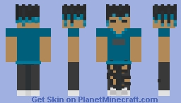 Fan Art For Perfections (My Style and He's Blue!) Minecraft Skin