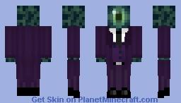 EnderEye Head in a suit // my Main Skin // purple suit ender eye Minecraft Skin