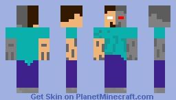 Robo-Herobrine Minecraft Skin