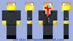 bald gold toad wii remote (with wii motion plus INSIDE)alovania in a suit Minecraft Skin
