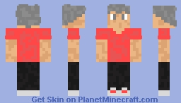 my character with a red shirt Minecraft Skin