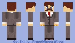 Man with a Big Mustache Minecraft Skin