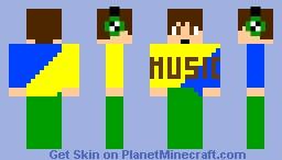 I love MUSIC Minecraft Skin
