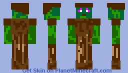 Acorn Knight (nature vs mechanical compatition) Minecraft Skin