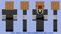 Brown paper pig. Minecraft Skin