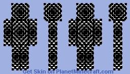 Mesmerizing Black and White Skin Minecraft Skin