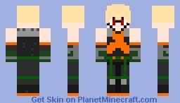 Bakugo Hero Suit Minecraft Skin